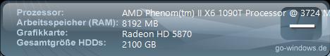 1090T/ 5870 / 8GB RAM