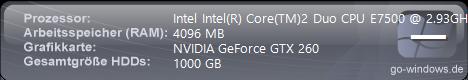 Intel Intel(R) Core(TM)2 Duo CPU E7500