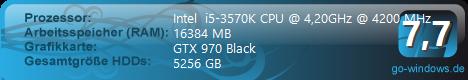 i5-3570k mit GTX 970 Black (gehört nun meiner Frau)