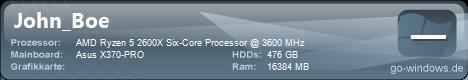 John_Boe - AMD Ryzen 2600X