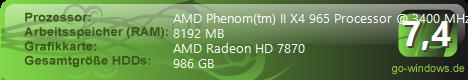 Phenom II X4 965 BE Gamer PC