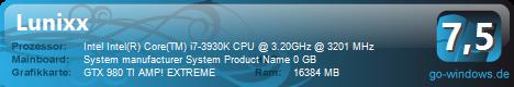 Gaming PC Nvidia+Intel Power GTX 980Ti AMP! EXTREME