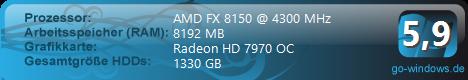 Second System 2.0-FX 8150 + Gigabyte HD 7970 OC