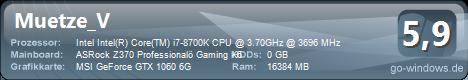Intel Core I7 8700K Power