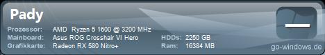 AMD Ryzen 5 1600 PC