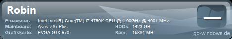 i7 4790k, 16GB DDR3, GTX 970