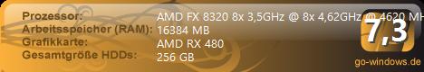 AMD FX 8320 + RX 480 (Zurzeit zerlegt)