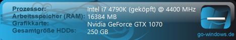 Aktuell: Intel Xeon + Nvidia GTX 1070
