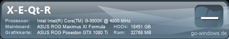 AREA-51 / i9 9900K OC Setup