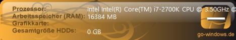 I7 2700K 3,5GHZ