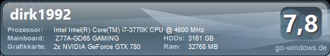 Intel Master 4000 3770K + 2x GTX 780