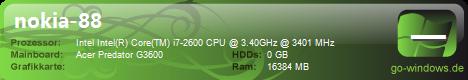 Acer Predator G3600