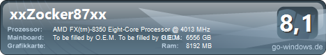AMD FX-8350 Asus M5A97 EVO R2.0